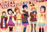 Nisekoi girls chocolate valentines